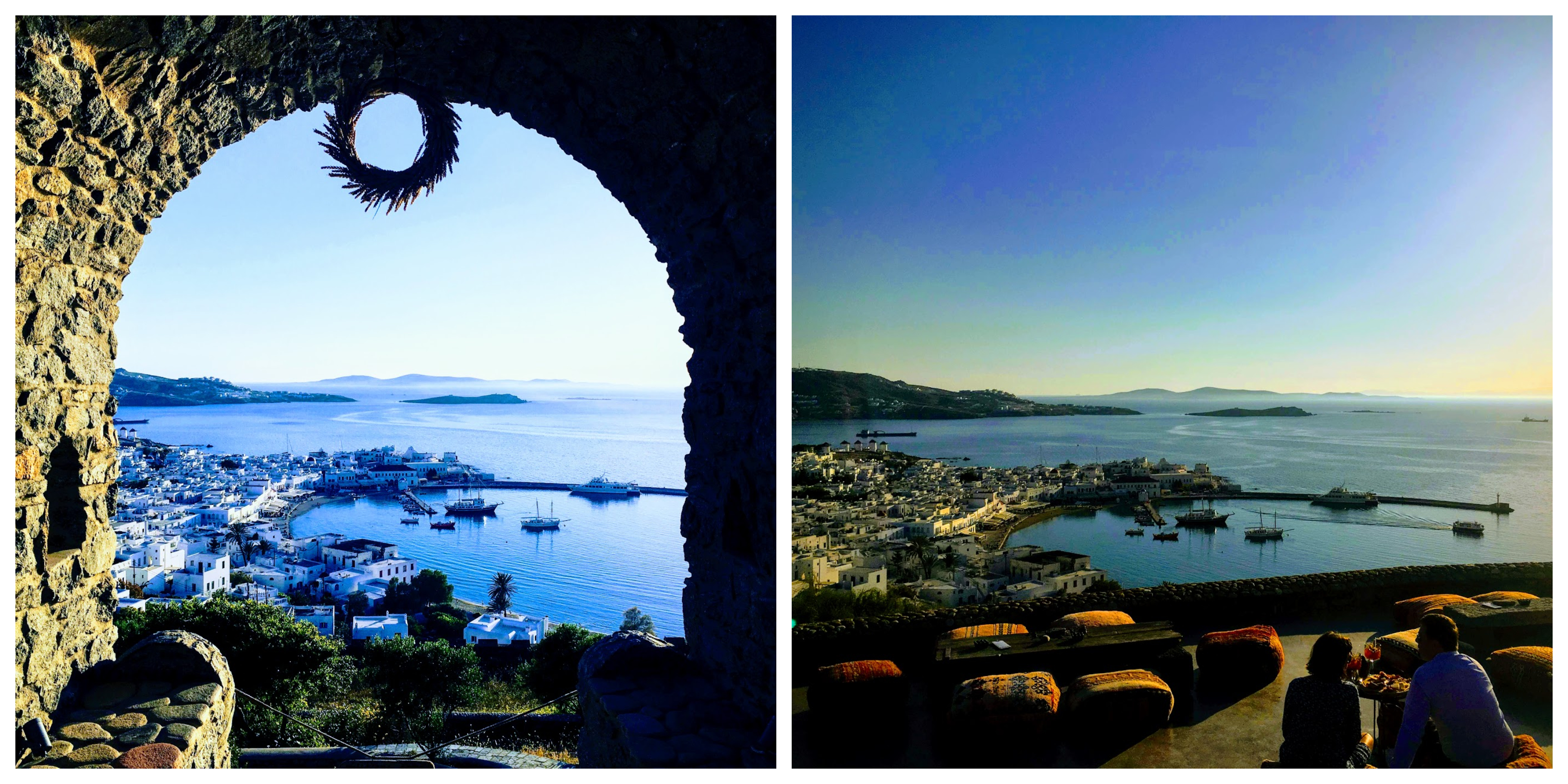Collage of Mykonos