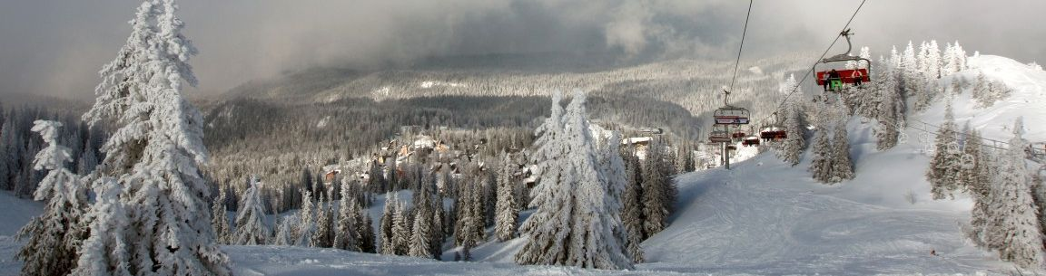 Panoramic view of Ski Lift in Sarajevo in Ski Resort