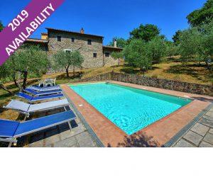 6 Bedroom Villa with Pool near Rinforzati in Tuscany