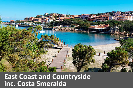 East Coast and Countryside inc. Costa Smeralda