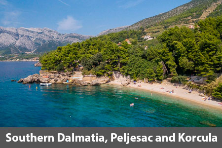 Southern Dalmatia including Peljesac and Korcula